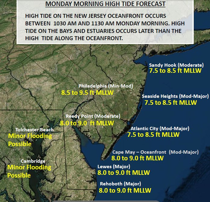 Watch for coastal flooding at high tide #Monday morning in #NewJersey and #Delaware. #Hermine @MSNBC https://t.co/BV7AzCOQi2