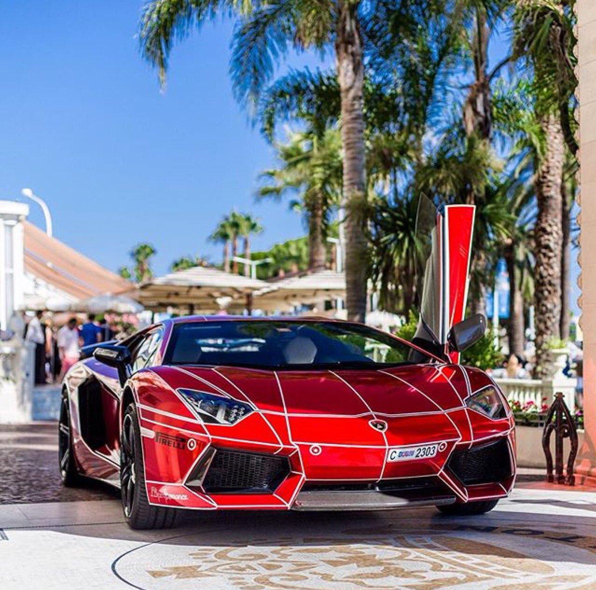 Autodrive On Twitter Amazing Chrome Red Lamborghini Aventador