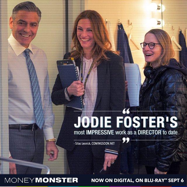 Critcs love Jodie Foster's #MoneyMonster. Pre-order your copy now! https://t.co/H5DjxfdypT https://t.co/n5SOF56yvm