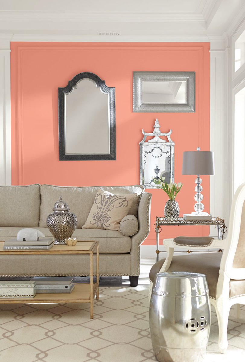 ravishing wall color for red furniture. Sherwin Williams on Twitter  Our Color of the Month Ravishing Coral SW 6612 is a burst tropical warmth https t co 7dp1ha22Po
