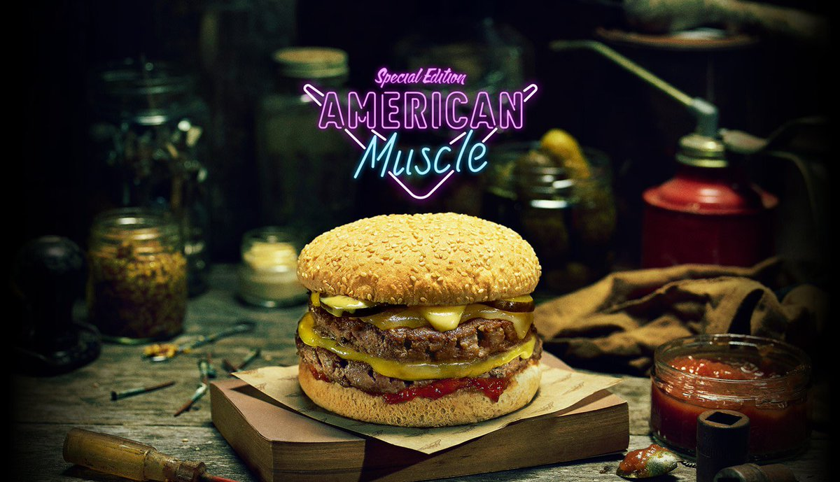 American Muscle is here NZ! Double beef, double cheddar, pickles & American Mustard Aioli. RT to win 1 of 5 burgers https://t.co/QBTvdr8DDZ