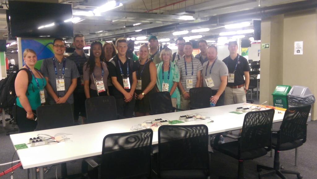 @CentennialEDU j-schoolers at the press centre and ready for #Rio2016 #Paralympics2016 to begin. #parabrazil16 https://t.co/S2mn7pXIQc