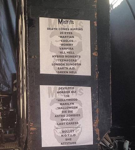 Tonight's Misfits set list, Riot Fest Denver. [h/t Misfits Fiend Club] https://t.co/OSet4OG4uL