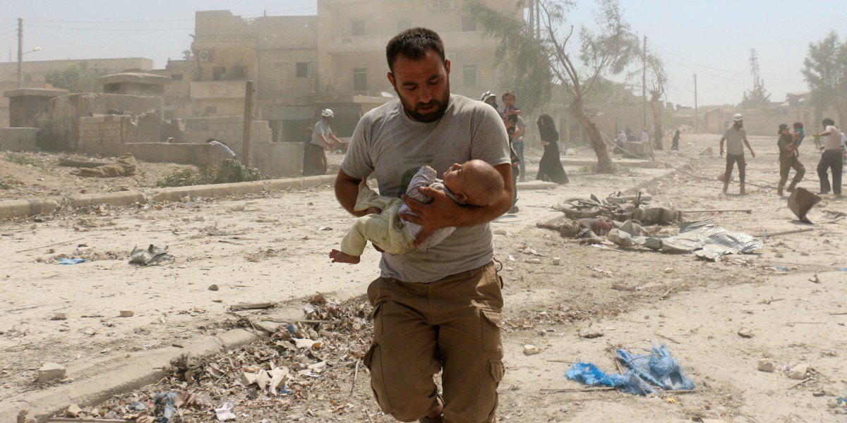 humanitarian intervention in syria We fired 105 missiles on april 14 that's 10 times the number of syrian refugees we've taken all year.