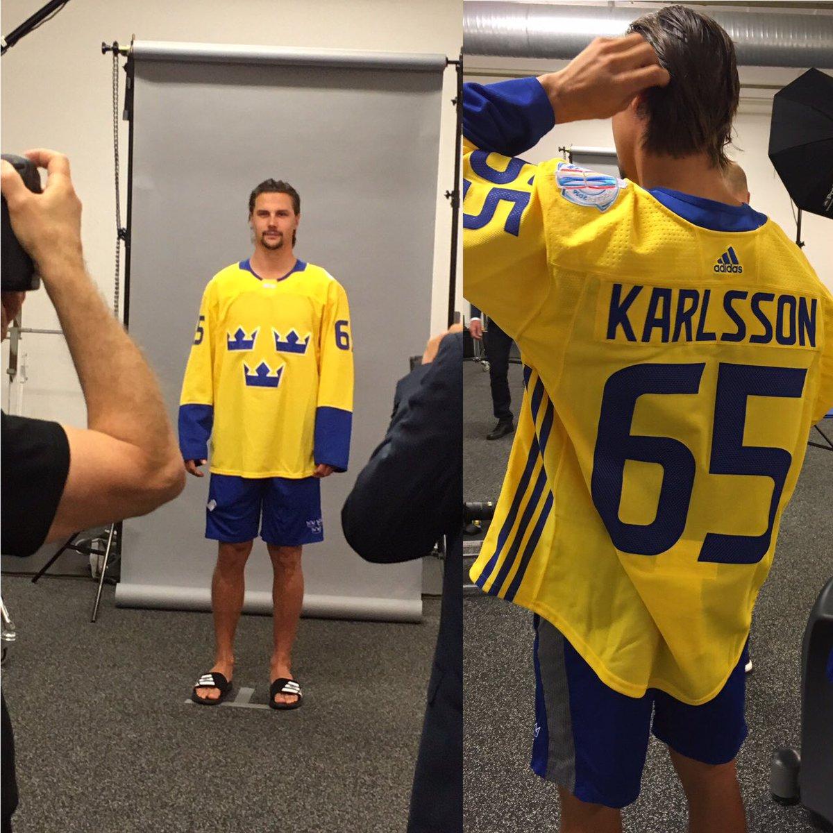 erik karlsson team sweden jersey