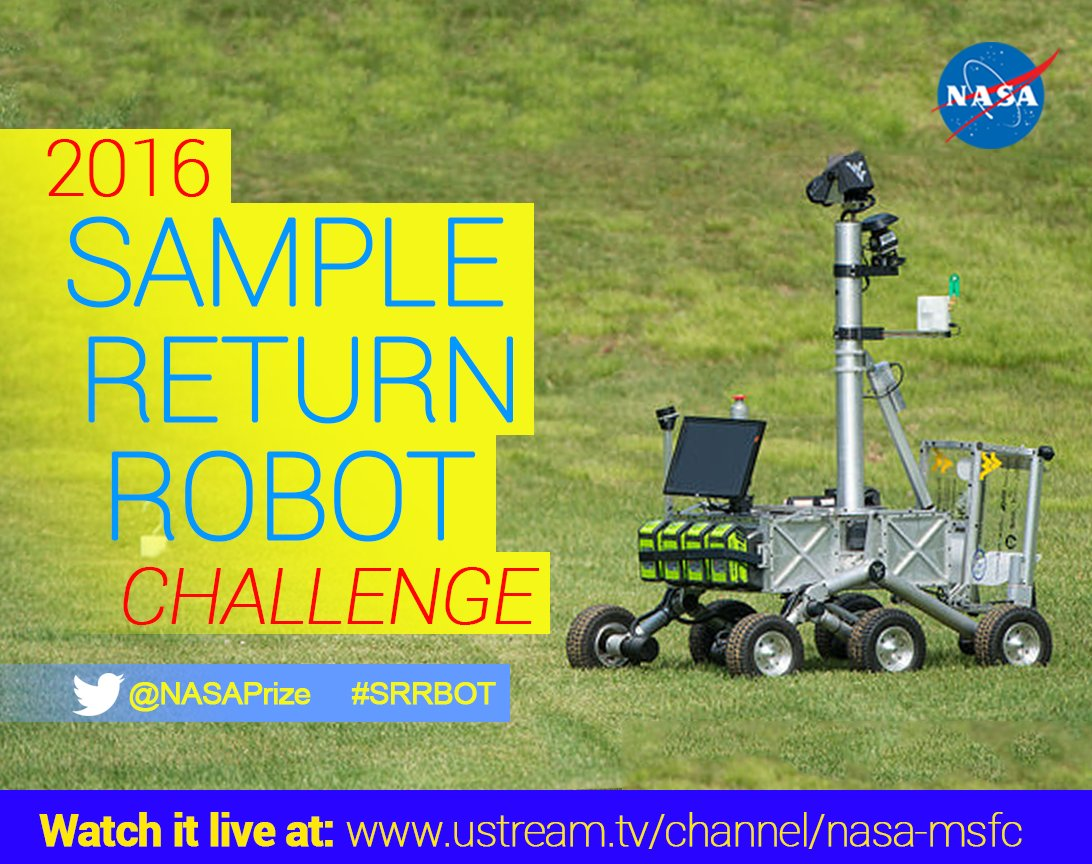 Good morning! Sample Return Robot Level 2, Day 2 kicks off in 15 minutes. Catch it live at https://t.co/rPic0Z6rfK. https://t.co/e0AbOeYAXZ