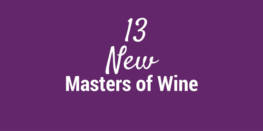 13 New Masters of Wine! Meet our new #MWs https://t.co/xja2IQwS4L  #mastersofwine https://t.co/ypcqpDm7Fd