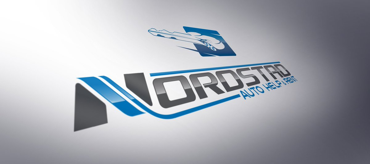 Abstraxidesign On Twitter Logodesign For Nordstad Autohelp Rent Company Blom Car Design Key Truck Tow Service Mechanic Auto