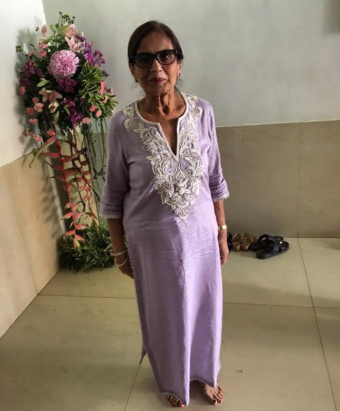 My beautiful Ma in law wearing #seemakhan tunic for ganpati festivities