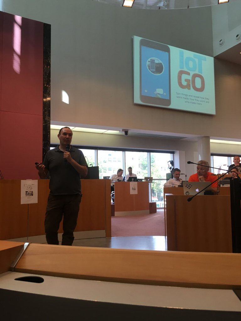 Combining Pokemon Go hype and IoT: IoTGO presented by @GlimwormIT #amsiot1 https://t.co/DztwAoSaPt