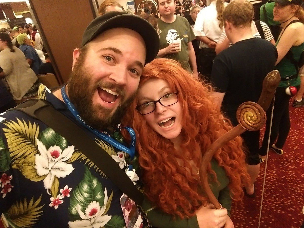 So @DragonCon rules. Von's Merida costume came out great. https://t.co/mZaY5p69VL