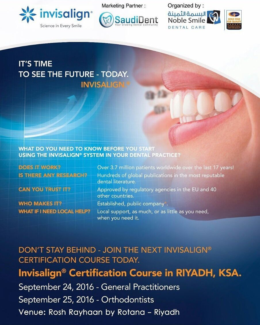 Saudident On Twitter Join The Next Invisalign Certification