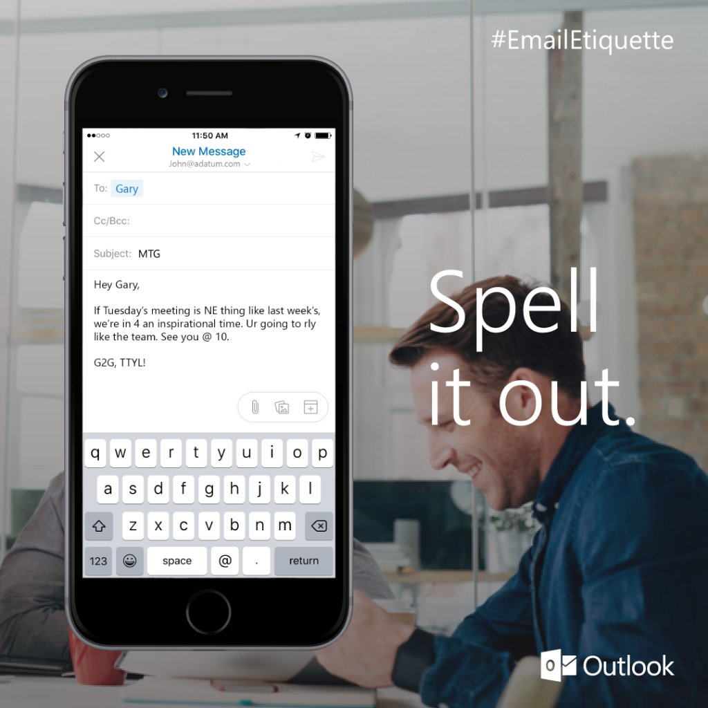 test Twitter Media - RT @Outlook: Not everyone is fluent in txt. #EmailEtiquette https://t.co/drFBtr2tpz https://t.co/099KbYSYO3