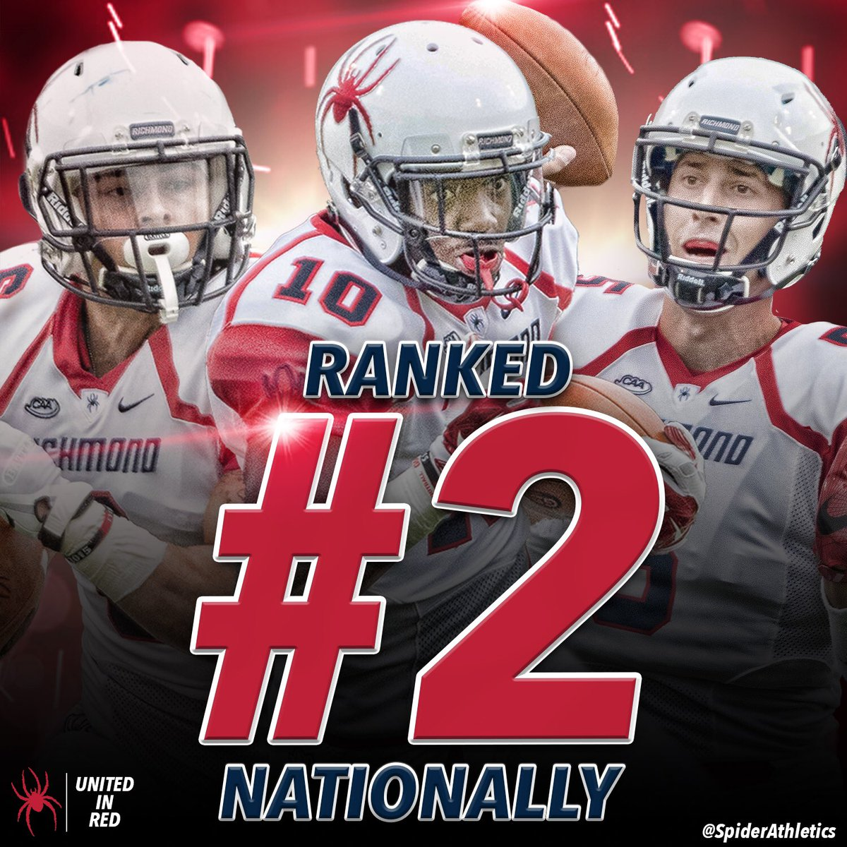 .@SpiderFootball moves up to #2 in the latest STATS FCS poll! #OneRichmond https://t.co/HLvlQXGiZf