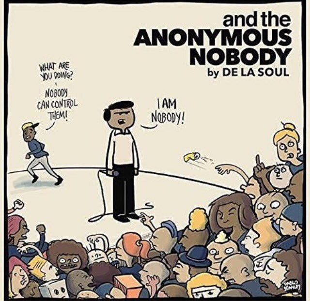 """Spread the word about """"and the anonymous nobody"""" #newalbum #outnow #delasoul https://t.co/pQJXKIs3W3"""