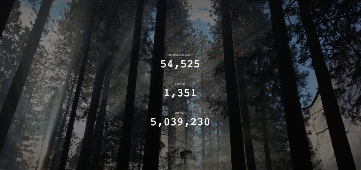 Stoked that one of my pics on @unsplash has this many views and downloads. Taken on an iPhone too! https://t.co/6p9hf3tCH9