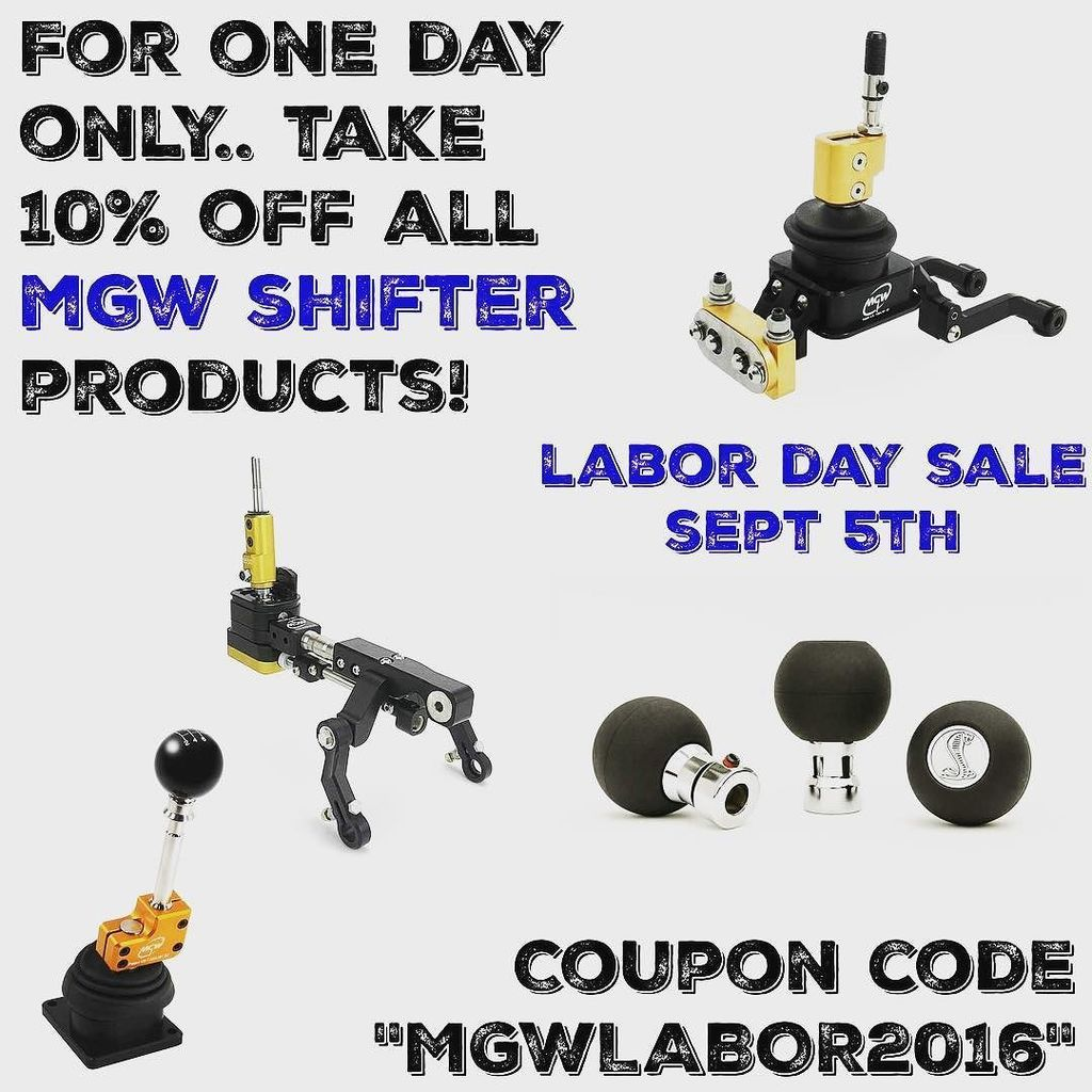 mgw shifter coupons