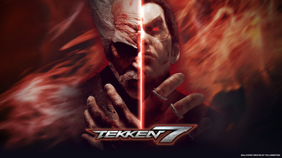 Group Of Kazuya Heihachi Tekken 7 Logo Wallpaper