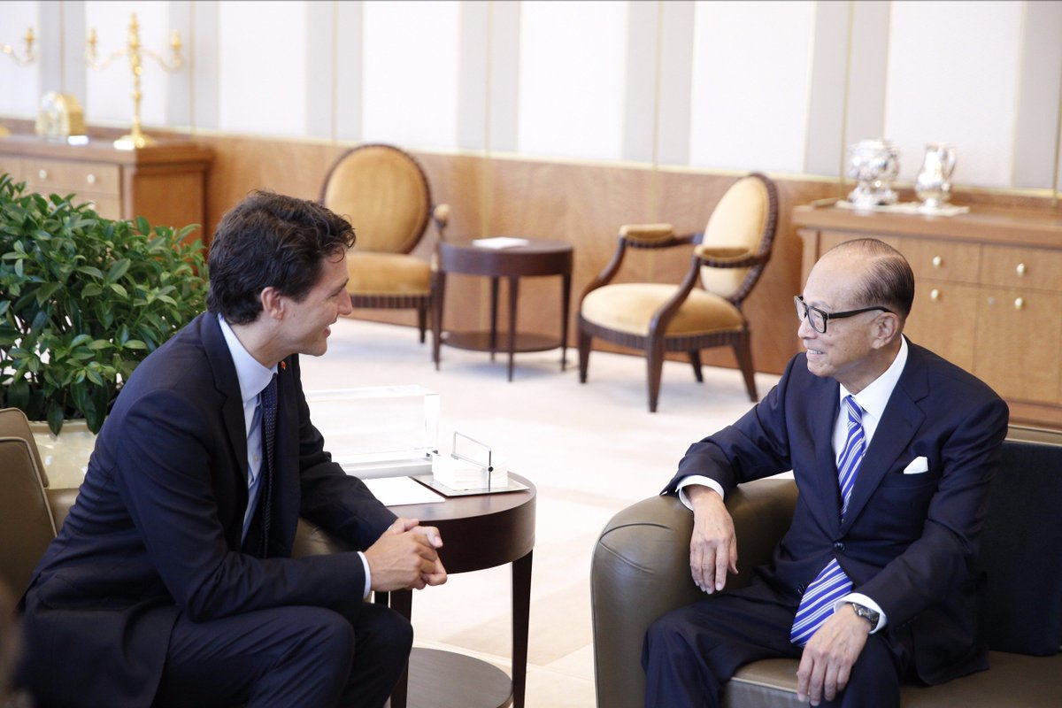 Image result for Trudeau Meets Li Ka Shing