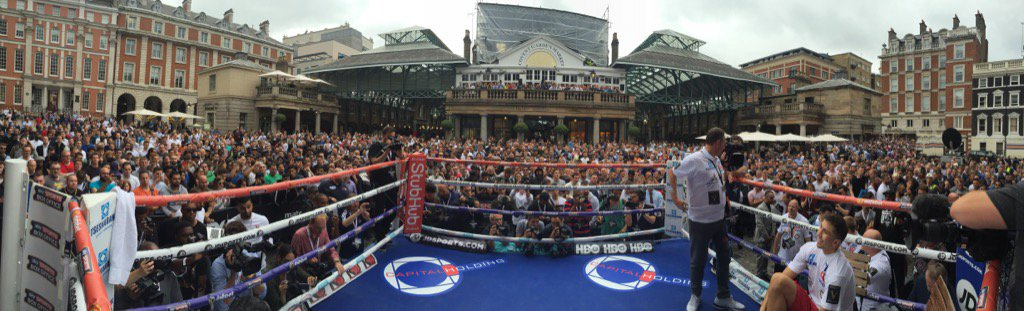 London Town Square Golovkin Workout