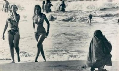 Iranian women in beach