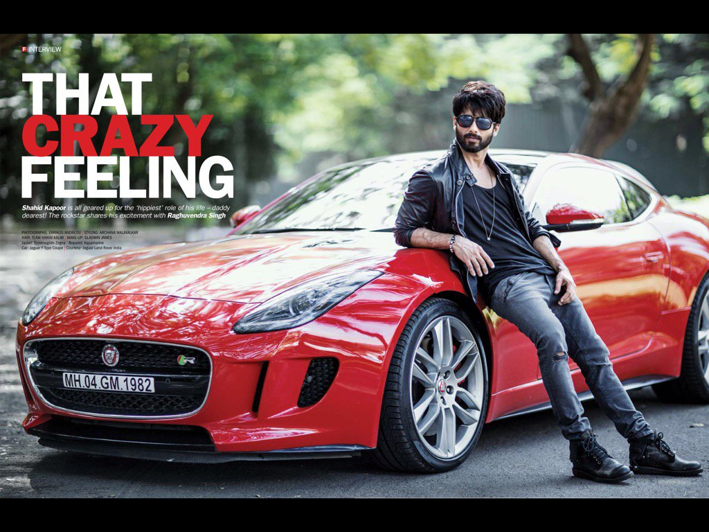 "Magazine scan (Filmfare, September 2016): ""That crazy feeling"" A candid conversation with @shahidkapoor ! (1/2) https://t.co/ZtCTRyFXIi"