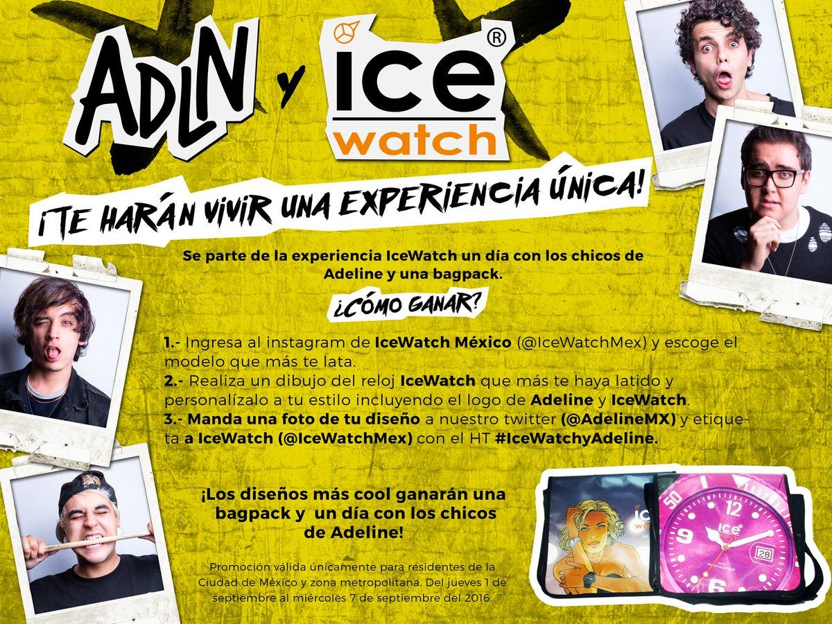 ¡No pierdan esta oportunidad de conocer a @AdelineMx! MAÑANA ÚLTIMO DÍA DE LA DINÁMICA #IceWatchyAdeline :) https://t.co/urTRtVhHse
