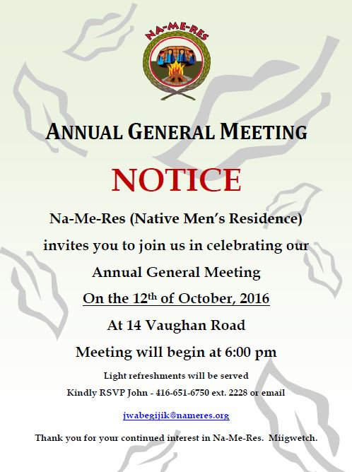 Na Me Res On Twitter Nameres Annual General Meeting