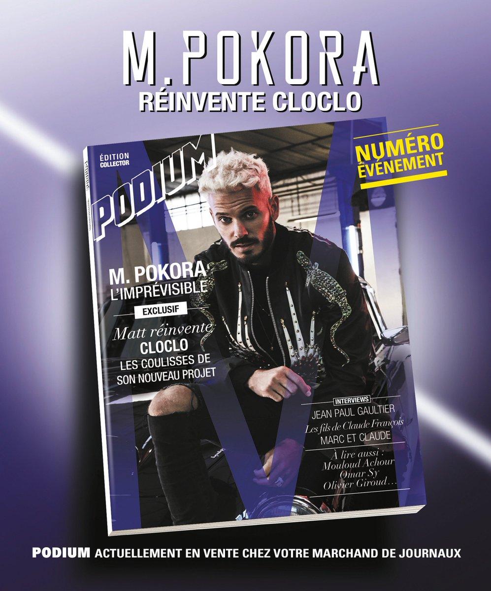 Le numéro collector de #Podium débarque dès demain en Belgique et en Suisse ! @MPokora https://t.co/ugAZidsjZI