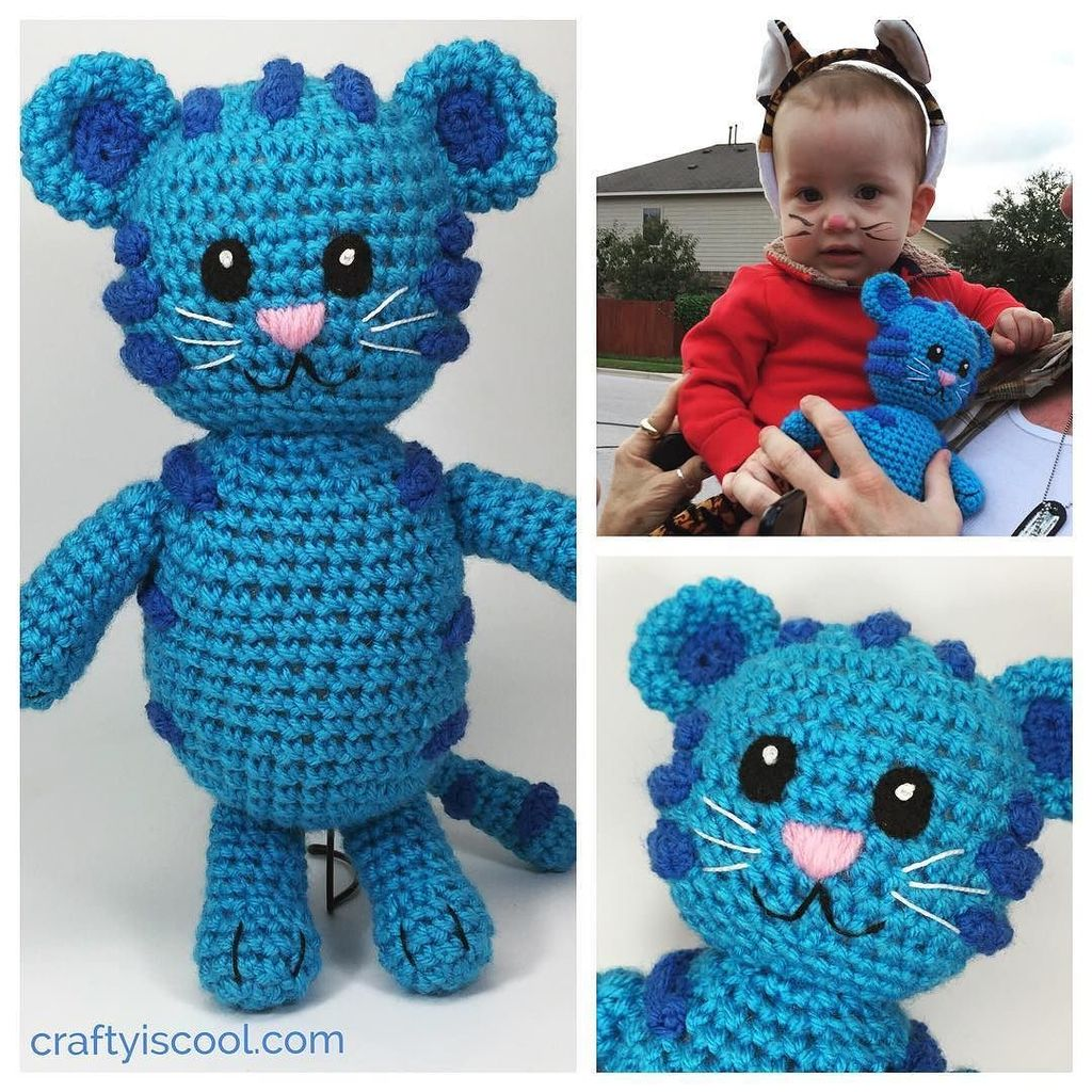 TIGEY CROCHET PATTERN REVIEW - AMIGURUMI - DANIEL TIGER - YouTube | 1024x1024