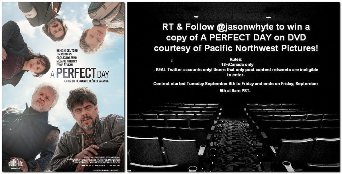 Hey #Canada! #CONTEST: RT & Follow me to WIN a DVD of A PERFECT DAY via @pnwpictures! See rules in image. https://t.co/9rQ9TZ2cq2