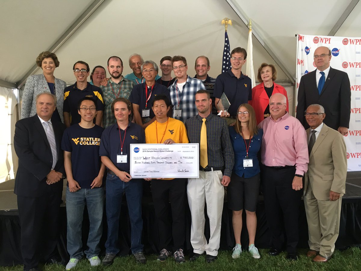 First place and $750,000 awarded to @WestVirginiaU! Congratulations to all of our teams! #SRRbot #nasatech https://t.co/yRwEt7q6Kh