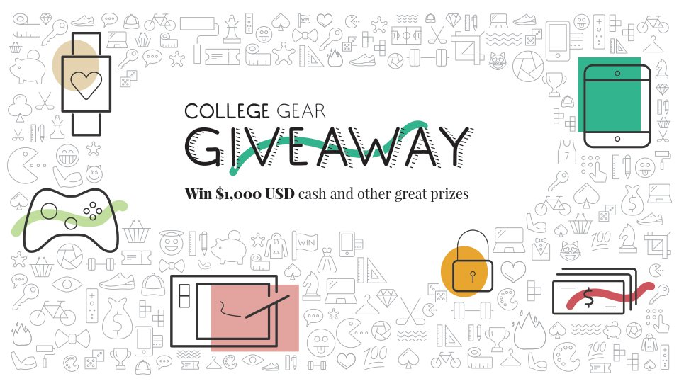 Go back to school & win with our #CollegeGearGiveaway! Enter to win new prizes every week