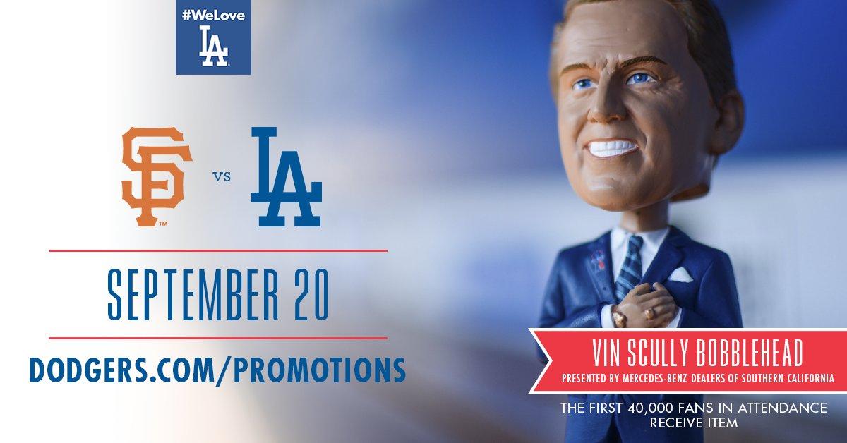Los Angeles Dodgers On Twitter VIN Bobblehead Presented - California mercedes benz dealers