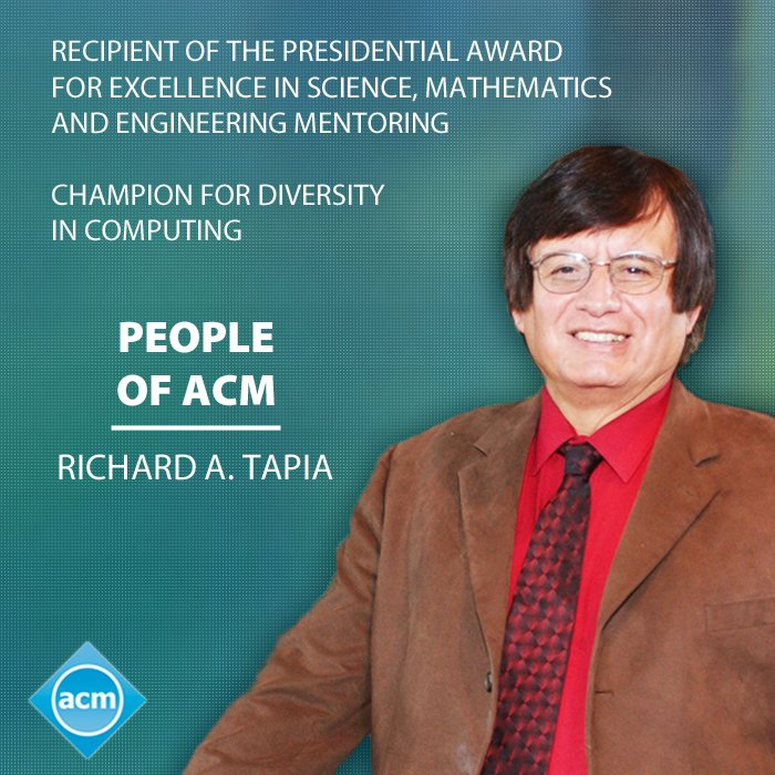 Read a fascinating People of ACM Interview with Richard Tapia: https://t.co/fG6UAzeWEK #tapia2016 @Tapia_con https://t.co/U4pyWqAKsK