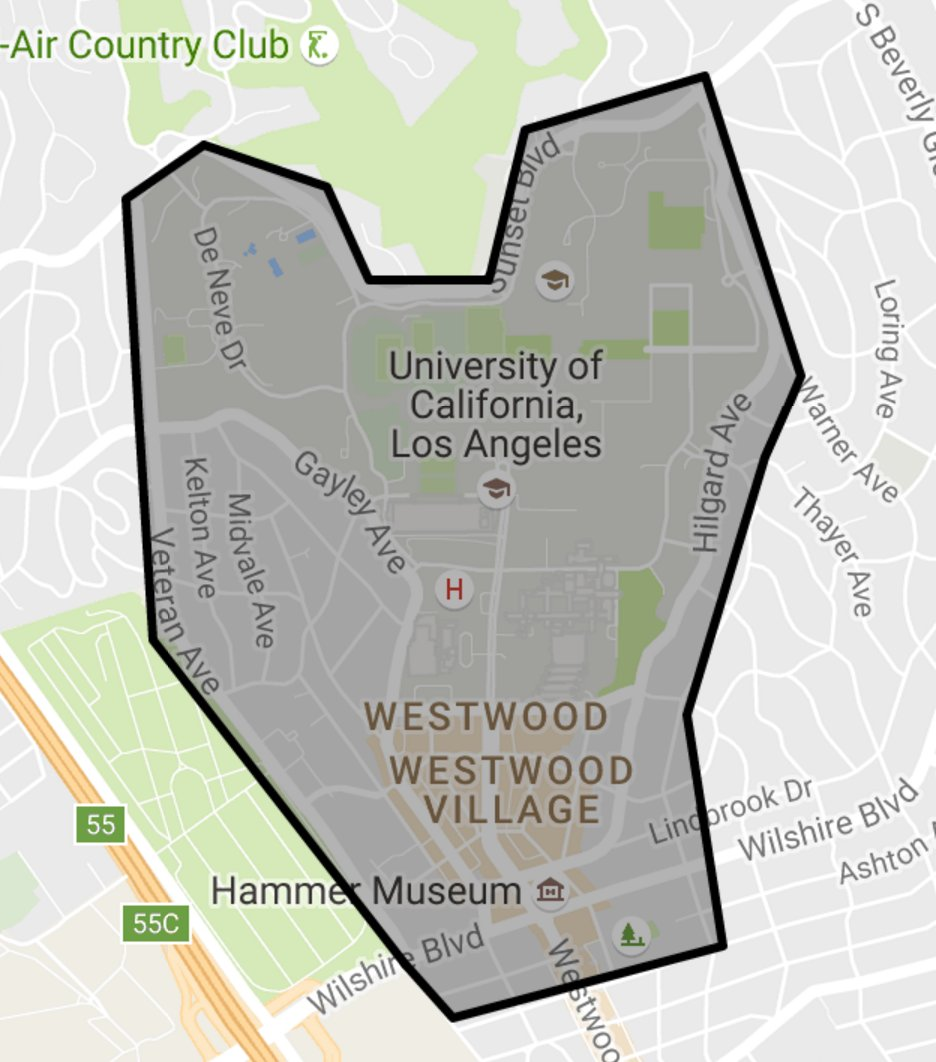 UCLA To Propose New Dorms Apartments To Match Enrollment Increase - Los angeles map westwood