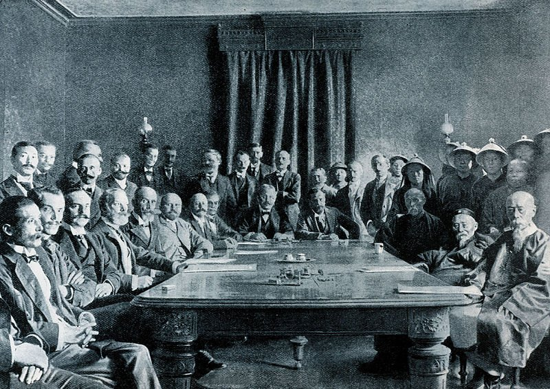 Septemer 7, 1901: Qing court agrees to The Boxer Protocol with representatives of eight allied foreign powers. #OTD https://t.co/umH3kGnQc0