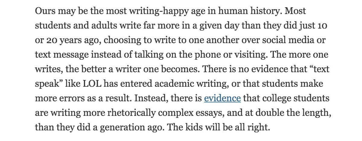 Social media means the kids can no longer write more than 140 characters at a time? Er, no: https://t.co/vZlWSqXOJR https://t.co/u2qxgog5hf