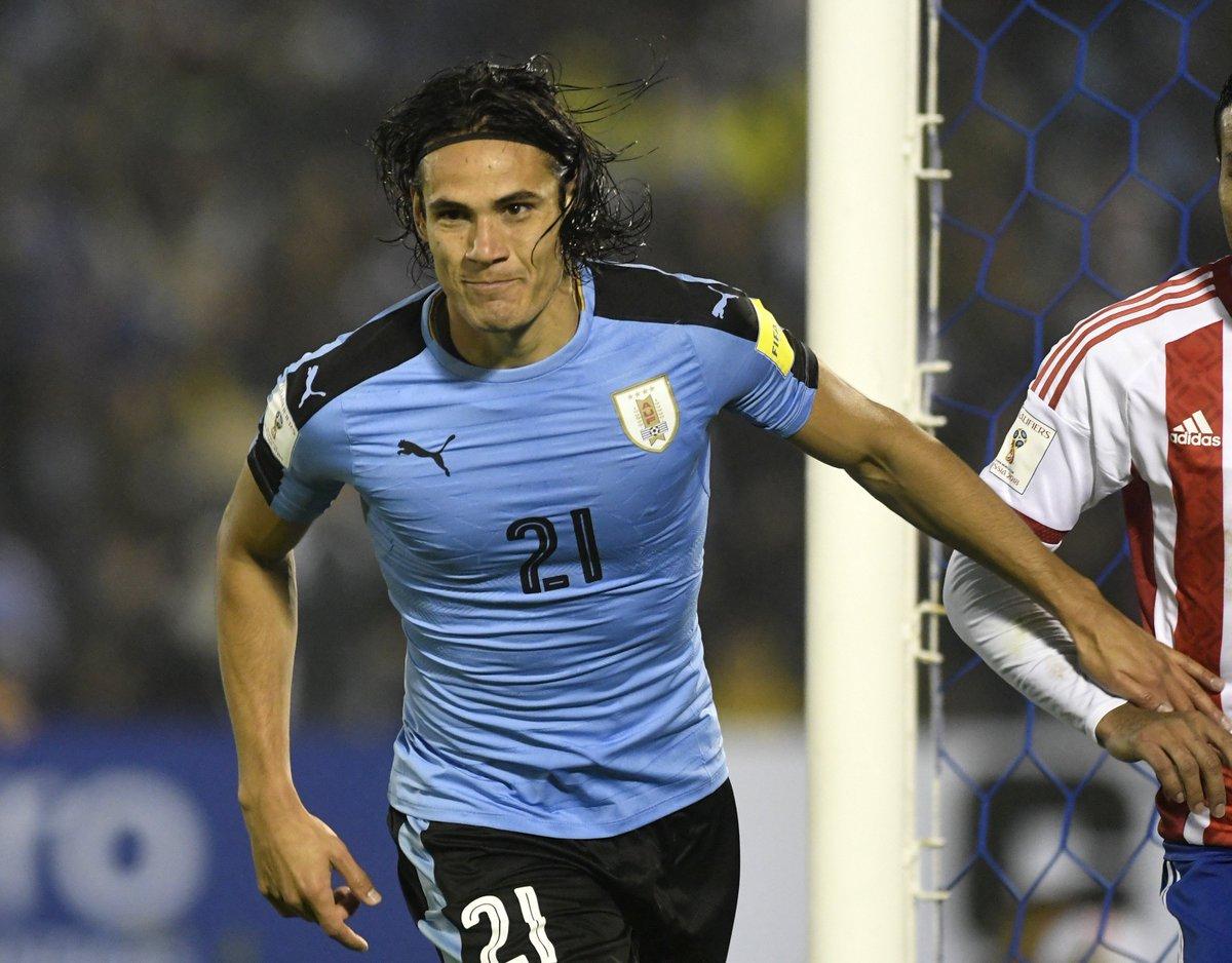 on sale fa8a1 90b9a Edinson Cavani scored Uruguay beat Paraguay South America ...