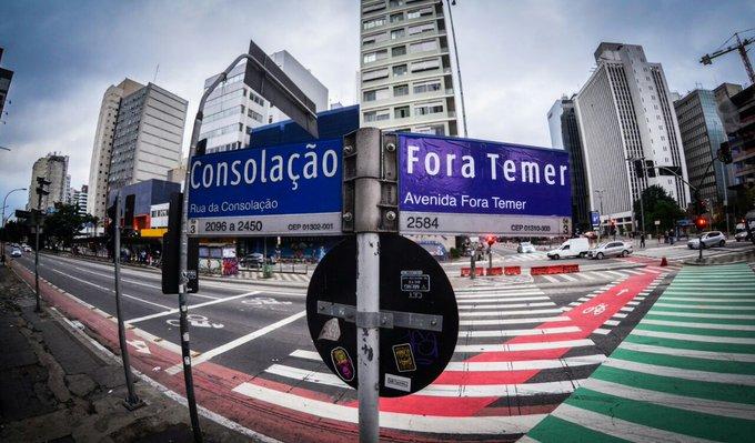 No Dia da Independência, a Av. Paulista amanheceu #ForaTemer