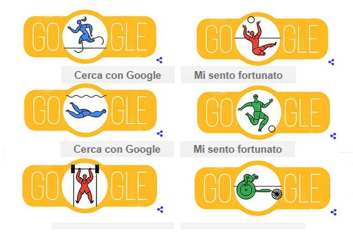 Olimpiadi vs Paralimpiadi 2016: Google usa due misure differenti con i Doodles