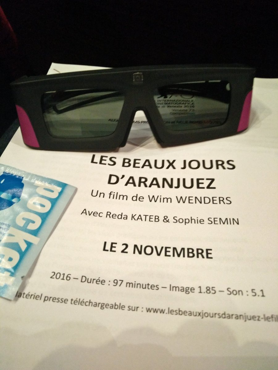 #LesbeauxjoursdAranjuez, le nouveau film de @wimwenders est donc en 3D #étonnant