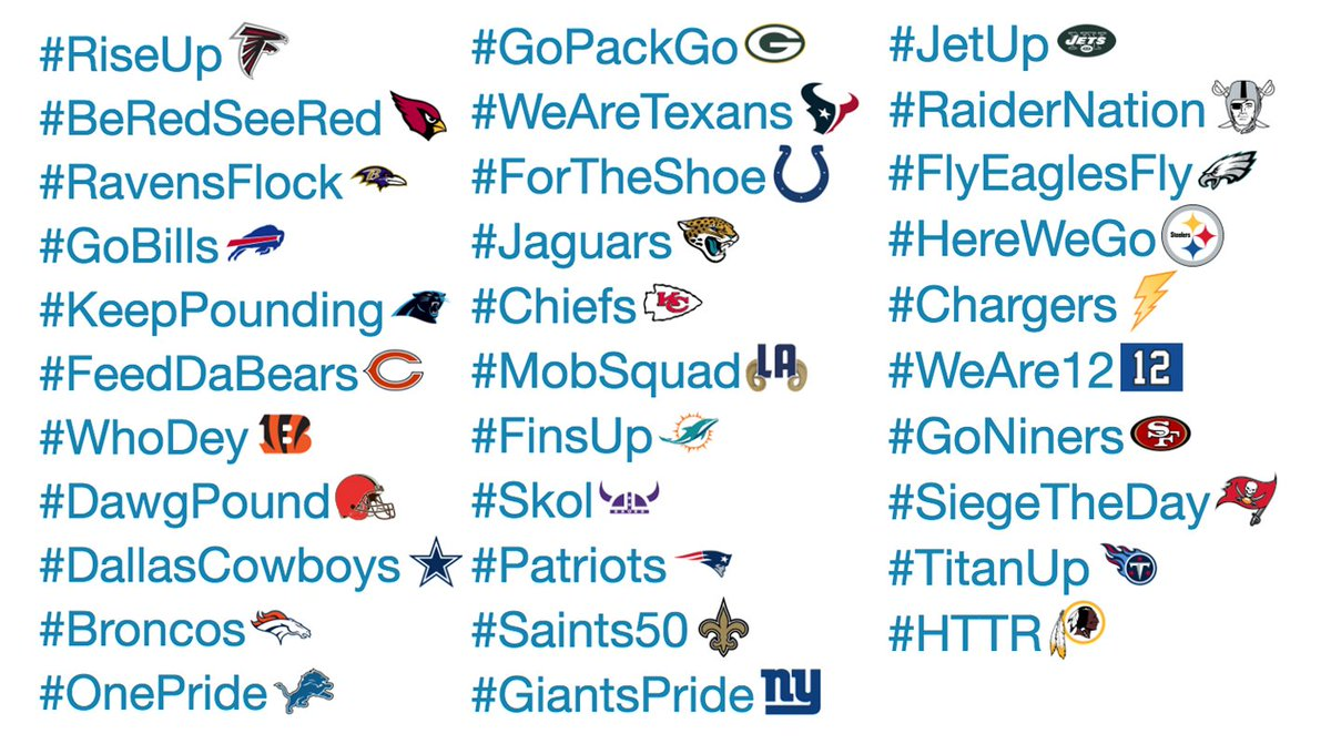 Image result for nfl twitter hashtags