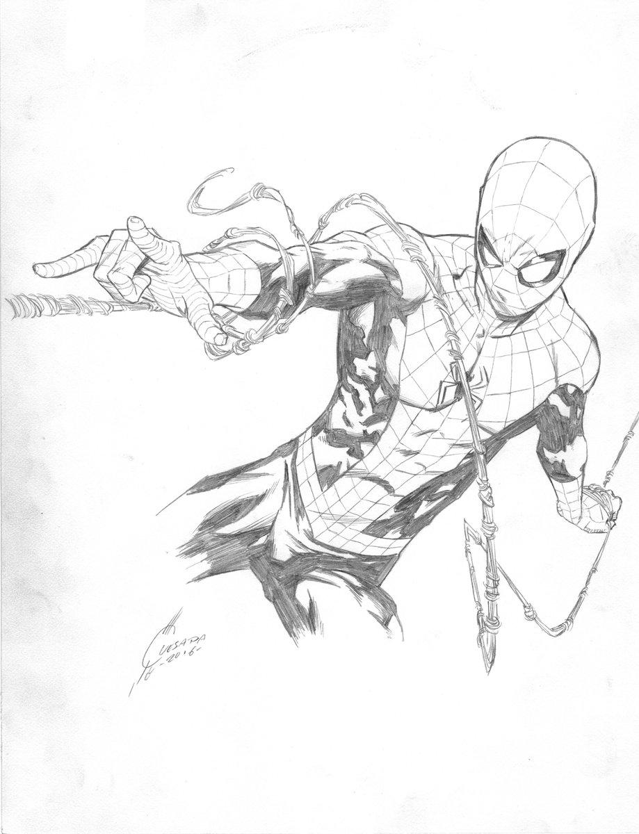 Spider-Man sketch, Ultimate Fan Experience,Toronto Fan Expo 2016. https://t.co/Jymznxhdqs