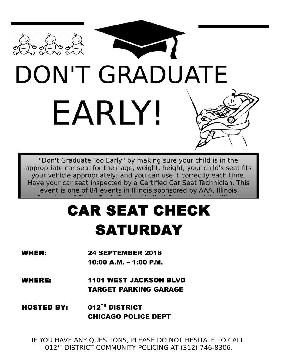 Chicago PD 12th Dist On Twitter Join Us Car Seat Check Saturday 24th Of Sept From 10a