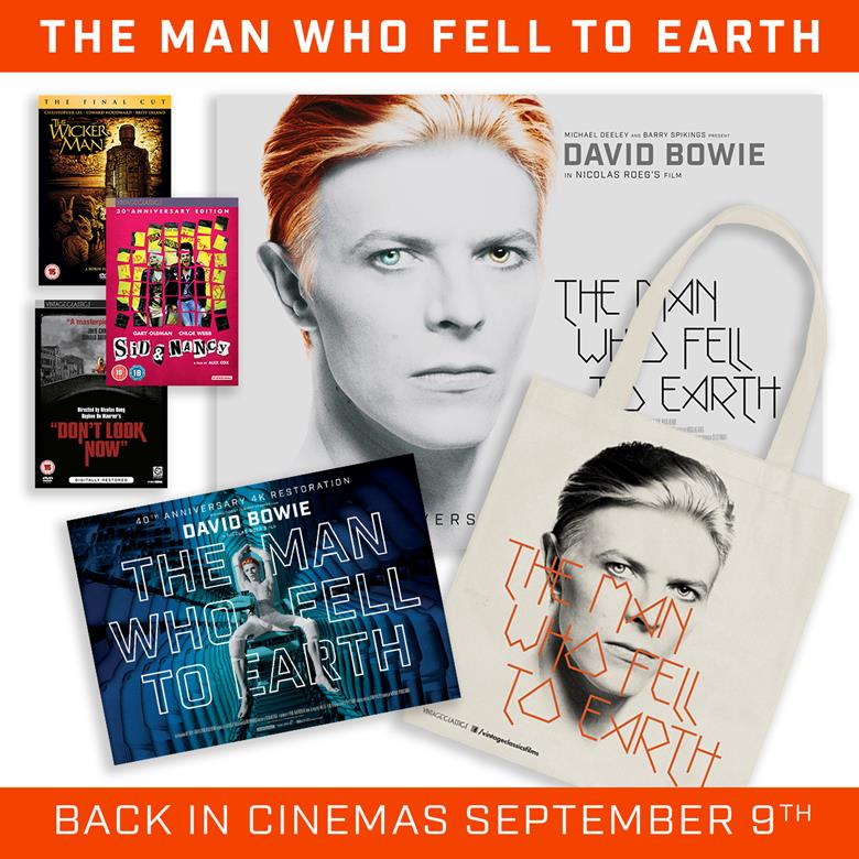 We're celebrating the re-release of 'The Man Who Fell To Earth'. RT to win a tote, DVDs, ltd edition poster & more! https://t.co/RqtiJVGSuG