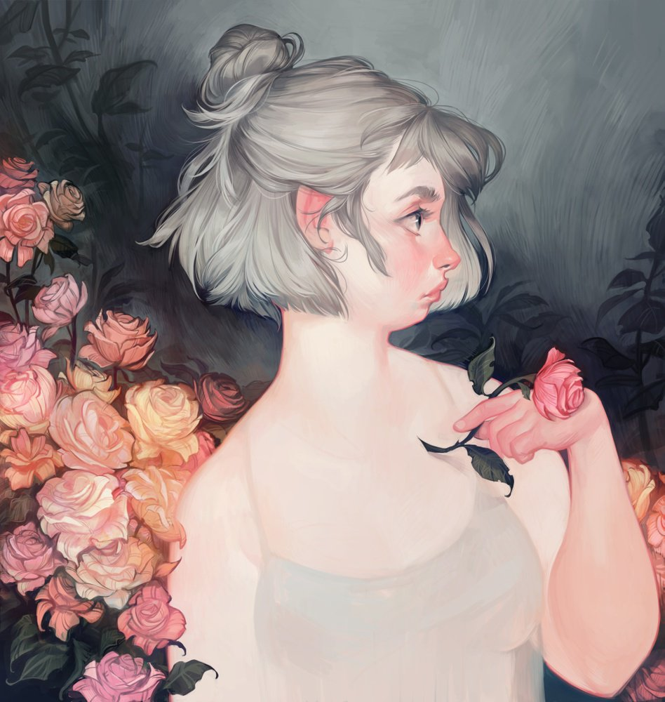 """roses"" by @loishh   Print available at https://t.co/EHq49zfhr2 https://t.co/7UnD6JlwKd"
