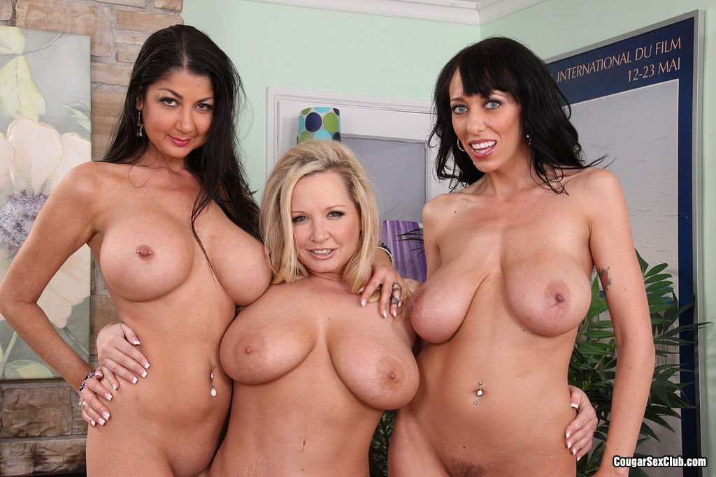 2 big tit milfs shake tits and rub nipples 10