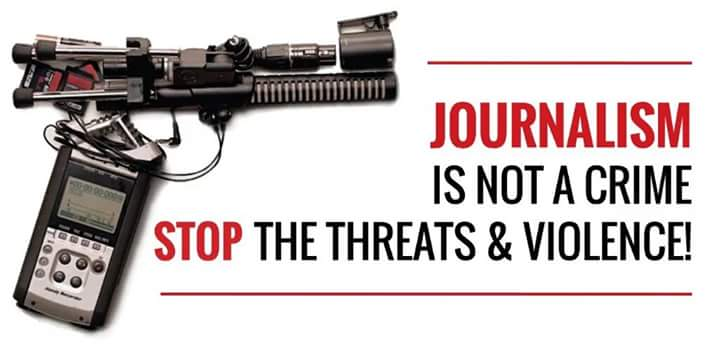 I stand to be counted! Journalism is a calling so much respect! #JournalistsUnderSiege https://t.co/VJjdkvstFm