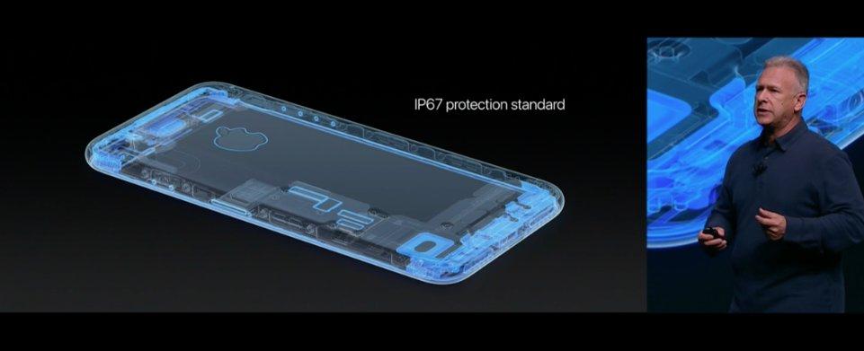 O #iPhone7 é resistente a água e poeira. Certificação IP67 #AppleEvent https://t.co/4SXPIOLCkn